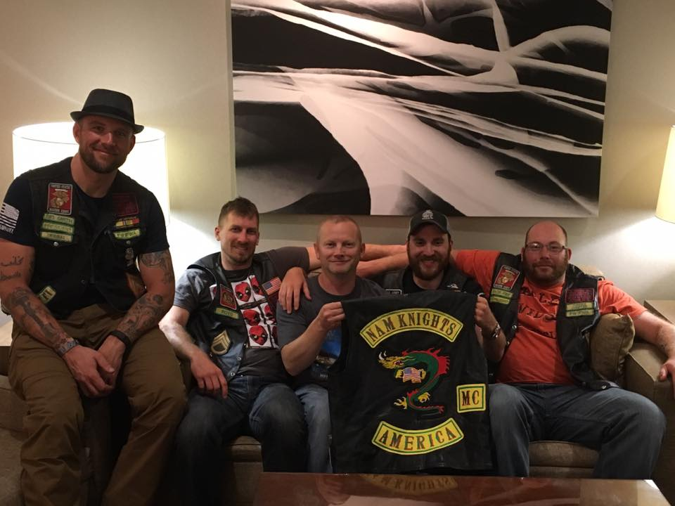 Rolling Thunder with members of the WI Nam Knights Chapter